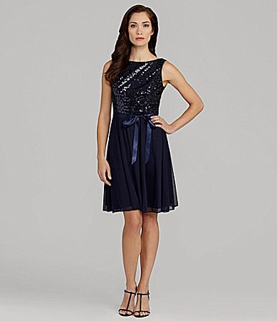 Jessica Howard Sequin Bodice Dress