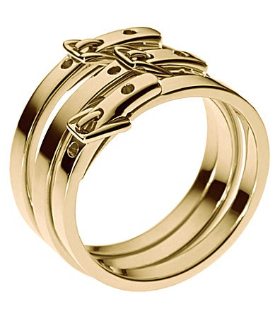 Michael Kors Goldtone Buckle 3-Ring Set
