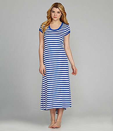 Lauren Ralph Lauren Lounge Modern Essentials Striped Maxi Gown