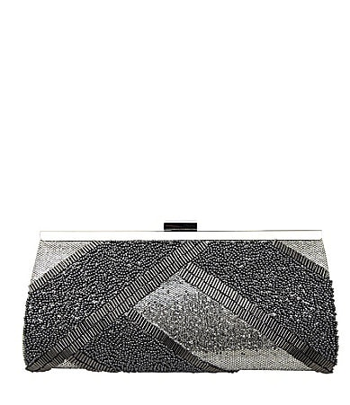 Nina Bridal Mirya Beaded Glitter Frame Clutch