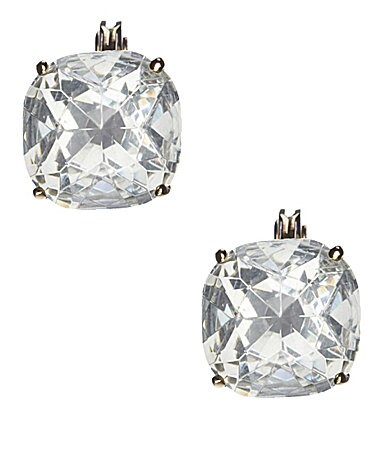 Kate Spade New York Crystal Stud Clip Earrings