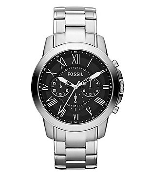 Fossil Grant Men´s Silvertone Dress Watch Bracelet