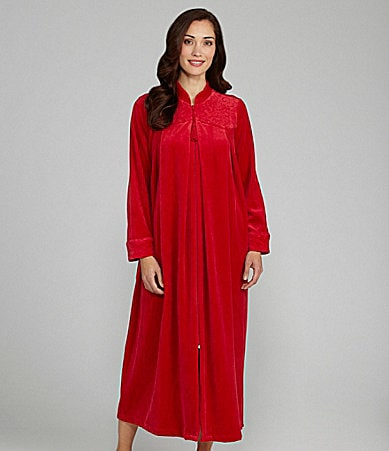 Long Robe Womens  Where To Buy Velour Zip Front Robe 39dc4f2060