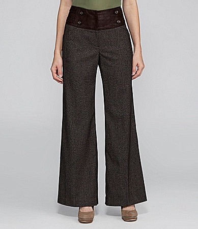 Antonio Melani Antoinette Plaid Wide-Leg Pants