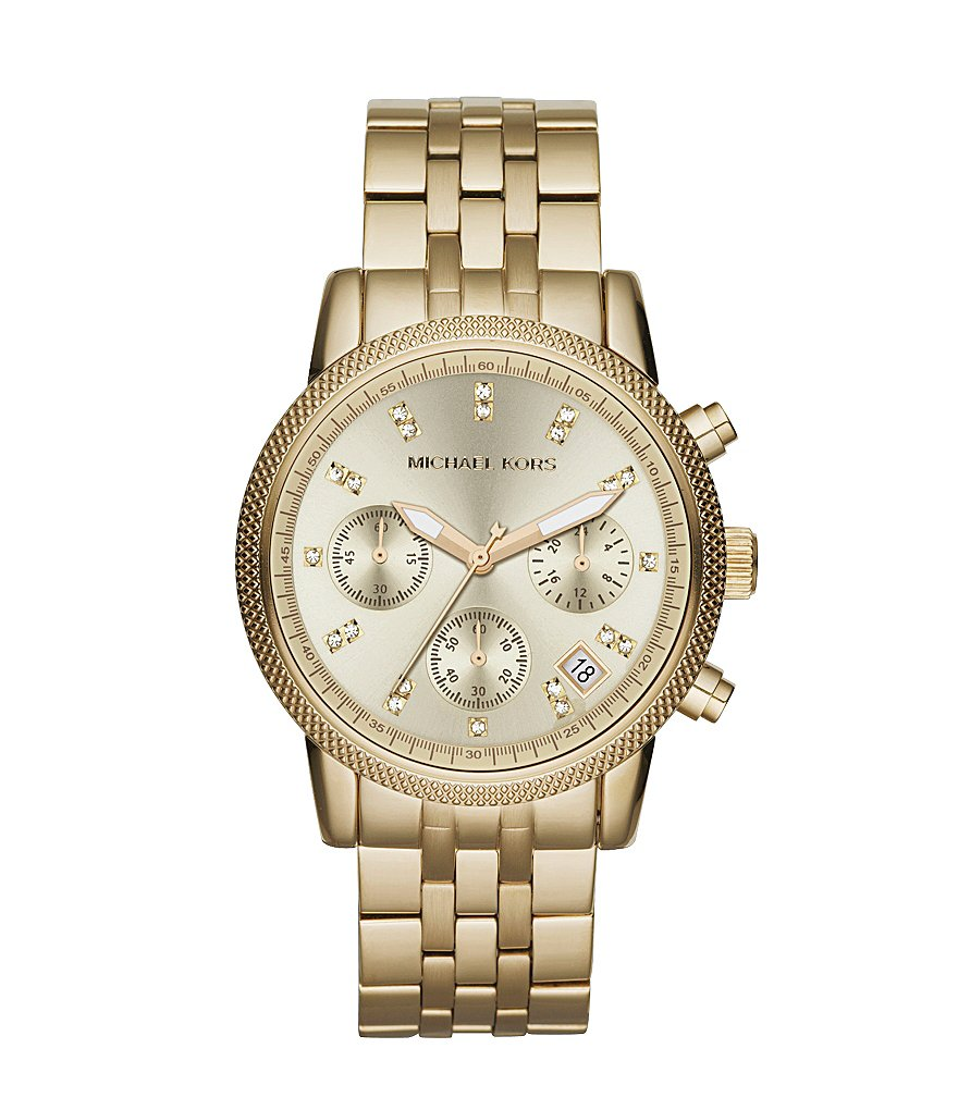 Michael Kors Ladies Ritz Goldtone Watch