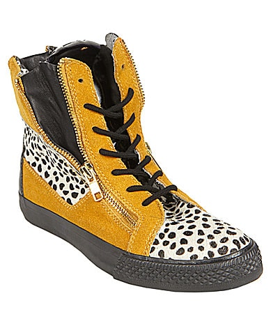 Betsey Johnson Nixxxie Animal-Print Sneakers