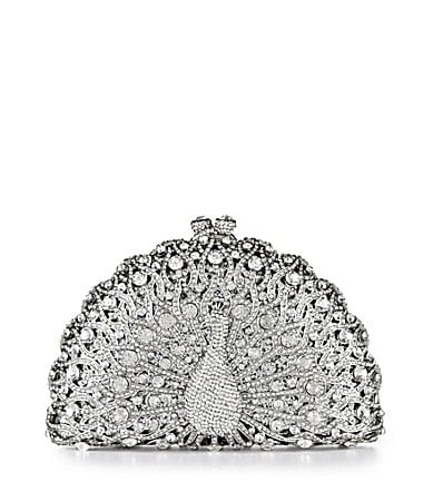 Kate Landry Social Peacock Minaudiere Clutch Evening Bag