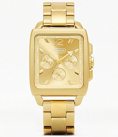 COACH BOYFRIEND SQUARE BRACELET WATCH