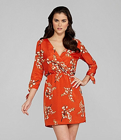 Gianni Bini Amber Blossom-Print Dress