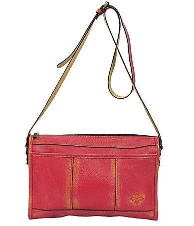 Patricia Nash Leather Tall Top Zip Cross-Body Bag