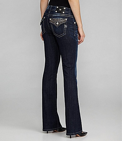 Miss Me Embellished-Pocket Bootcut Jeans