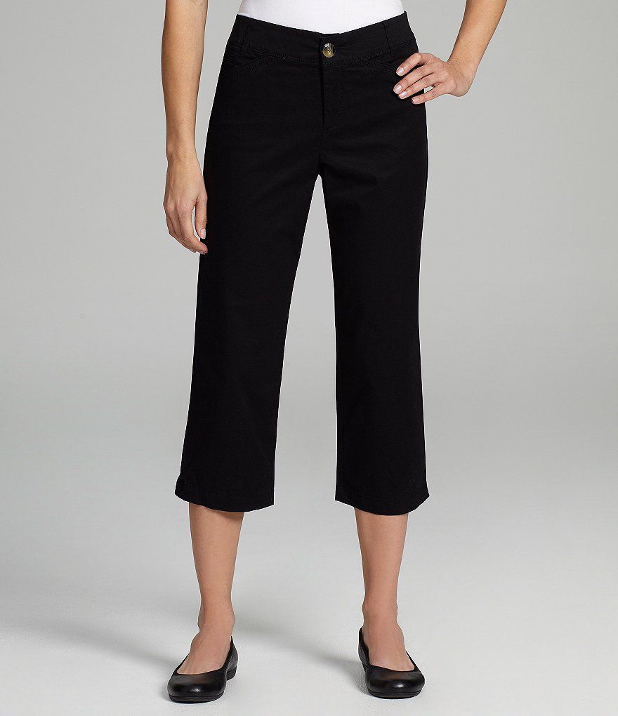 Intro Easy-Waist Twill Capri Pants