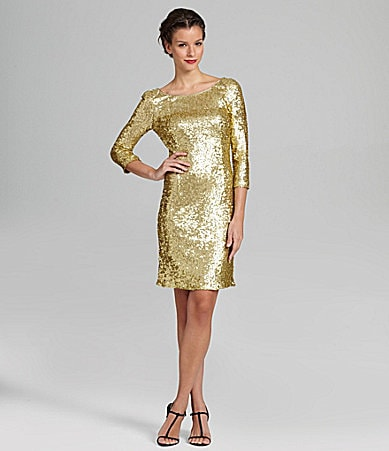 Gold Sequin Dress on Marc New York Sequin Cocktail Dress   Dillards Com