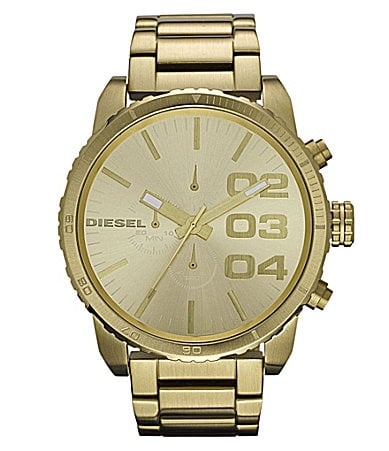 Diesel Goldtone Chronograph Watch