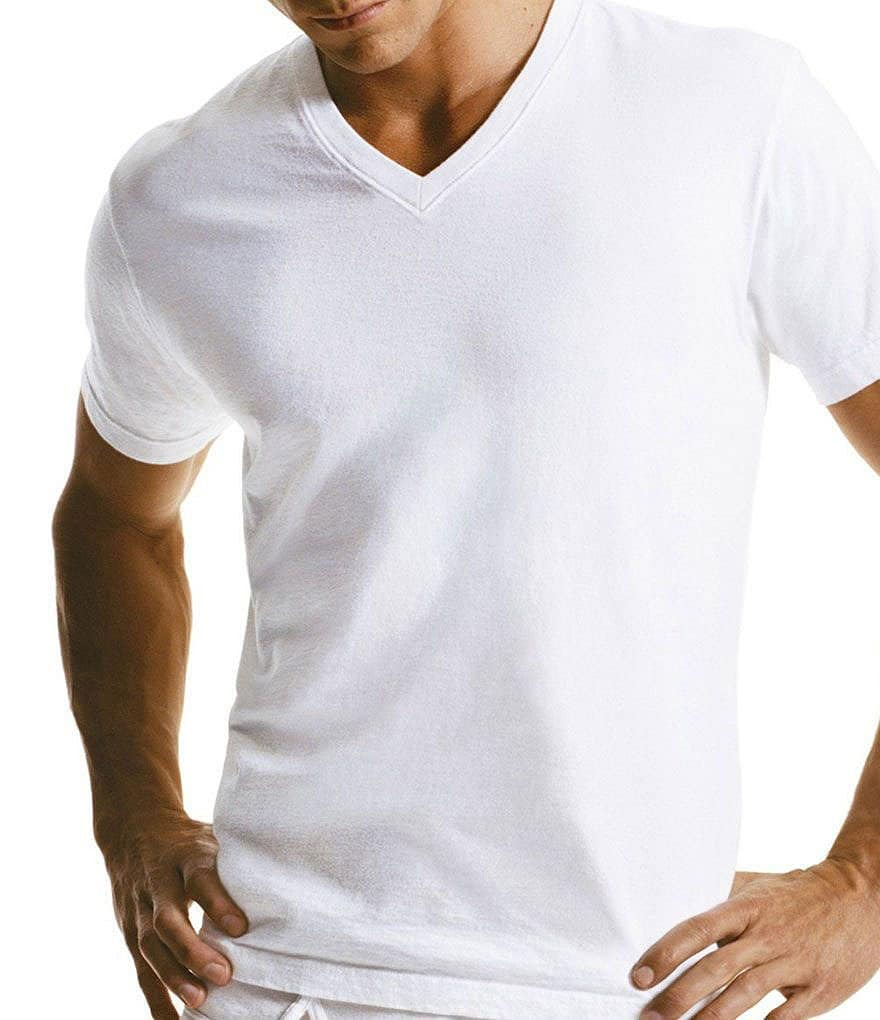 Calvin Klein Big & Tall Basic V-Neck T-Shirt. 2-Pack