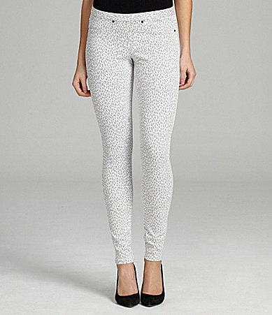 Hue Twill Mini Leopard Print Leggings