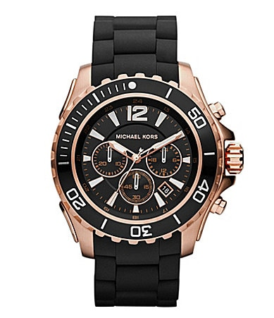 Michael Kors Men�s Drake Silicone Watch