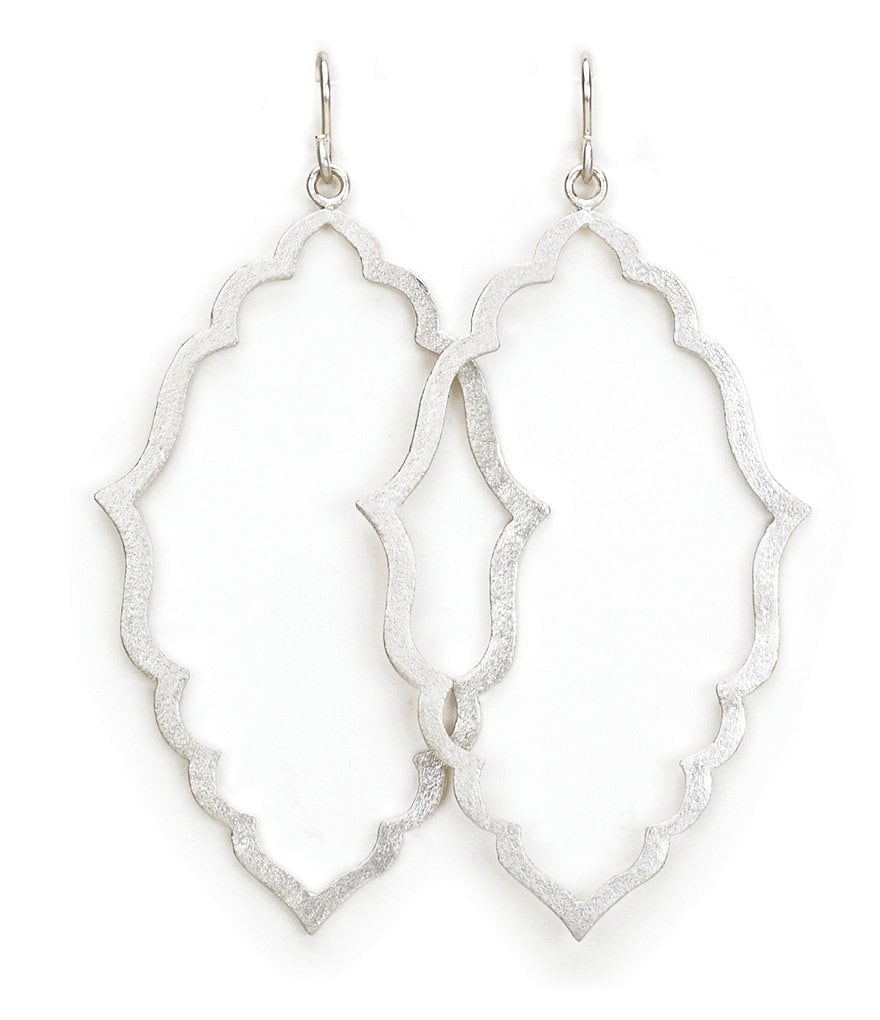 Dogeared Always Beautiful Sterling Silver Moroccan Earrings
