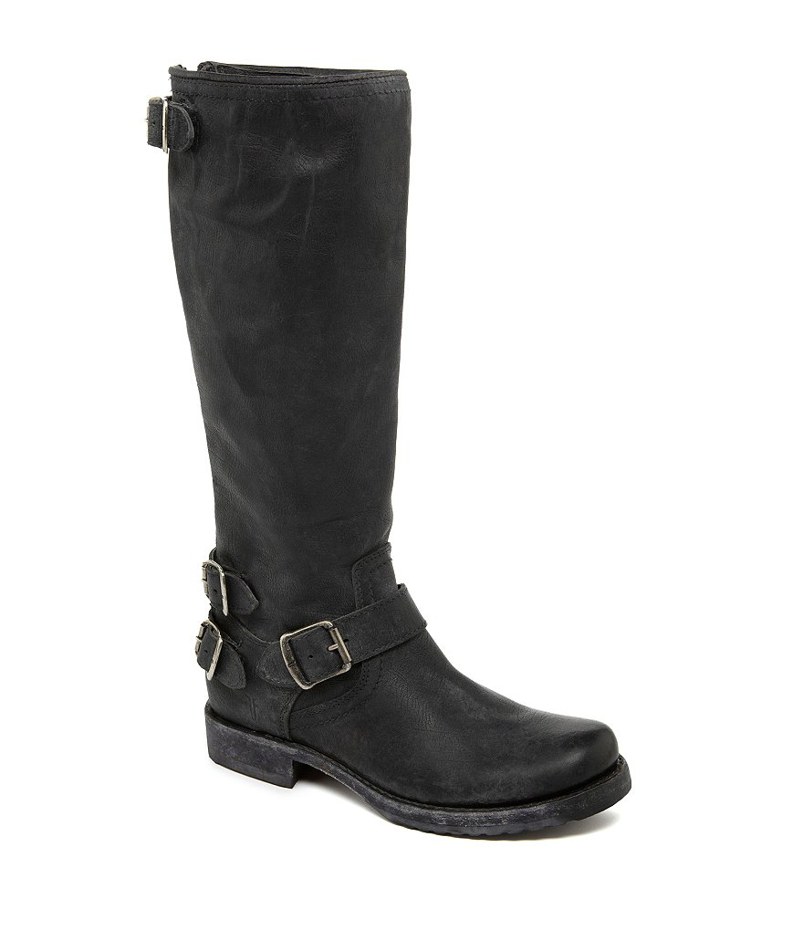 Frye Veronica Back-Zip Boots