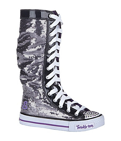 Skechers Girls' Twinkle Toes: Shuffles - Electric Dreamz High-Top Sneakers