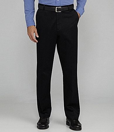 Roundtree & Yorke Big & Tall Flat-Front Ultimate Expander Travel Smart Twill Pants