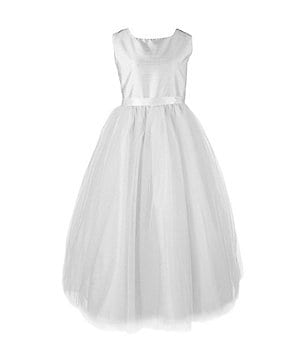 Pippa & Julie Big Girls 7-10 Shantung Ballerina Dress