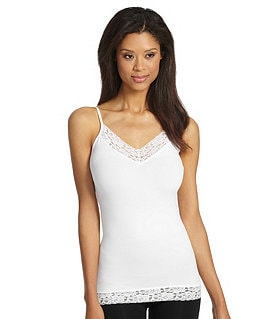 Modern Movement Seamless Camisole With Lace Image