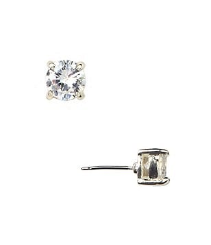 Anne Klein Crystal Square Stud Earrings