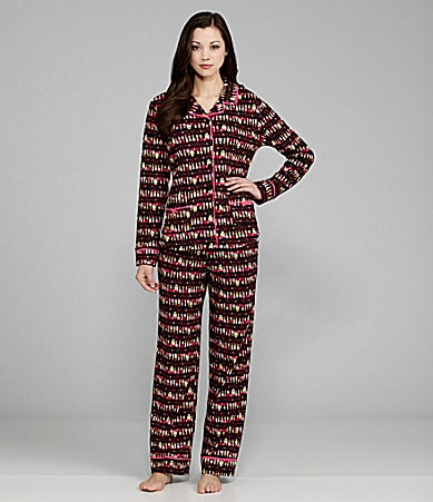 Disney Luxe Kiss Goodnight Long Sleeve Pajamas