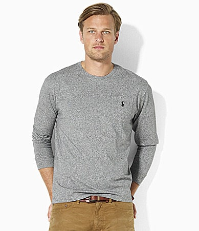 Polo Ralph Lauren Classic-Fit long-Sleeve Crewneck Pocket T-Shirt