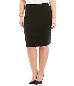 Vince Camuto Plus Midi Tube Skirt