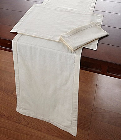 Noble Excellence Hemstitch Table Linens