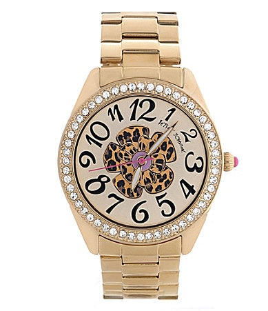 Betsey Johnson Leopard Flower Watch