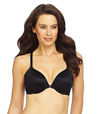 Modern Movement 3D Curves Front-Closure Fit to a T-Back Bra