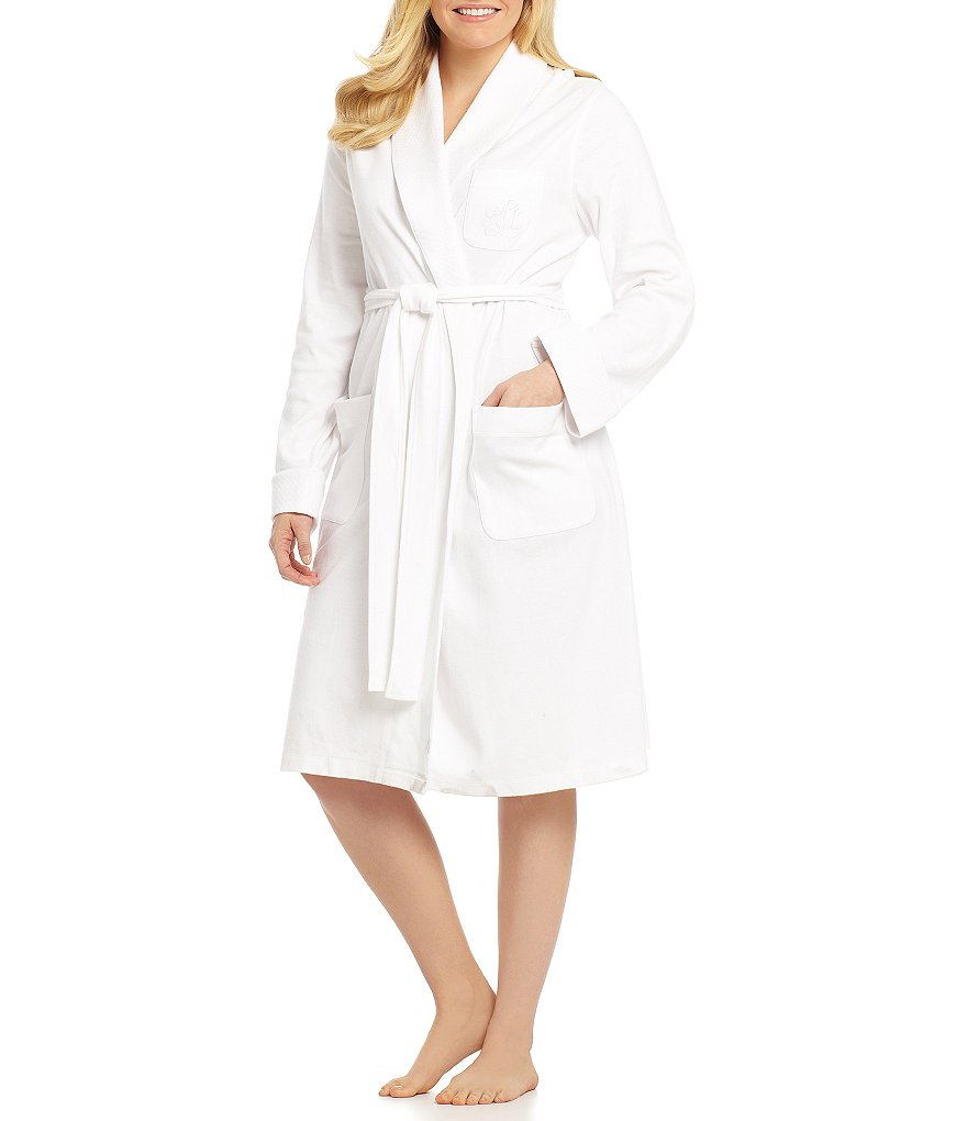 Lauren Ralph Lauren Plus Short Shawl Collar Robe