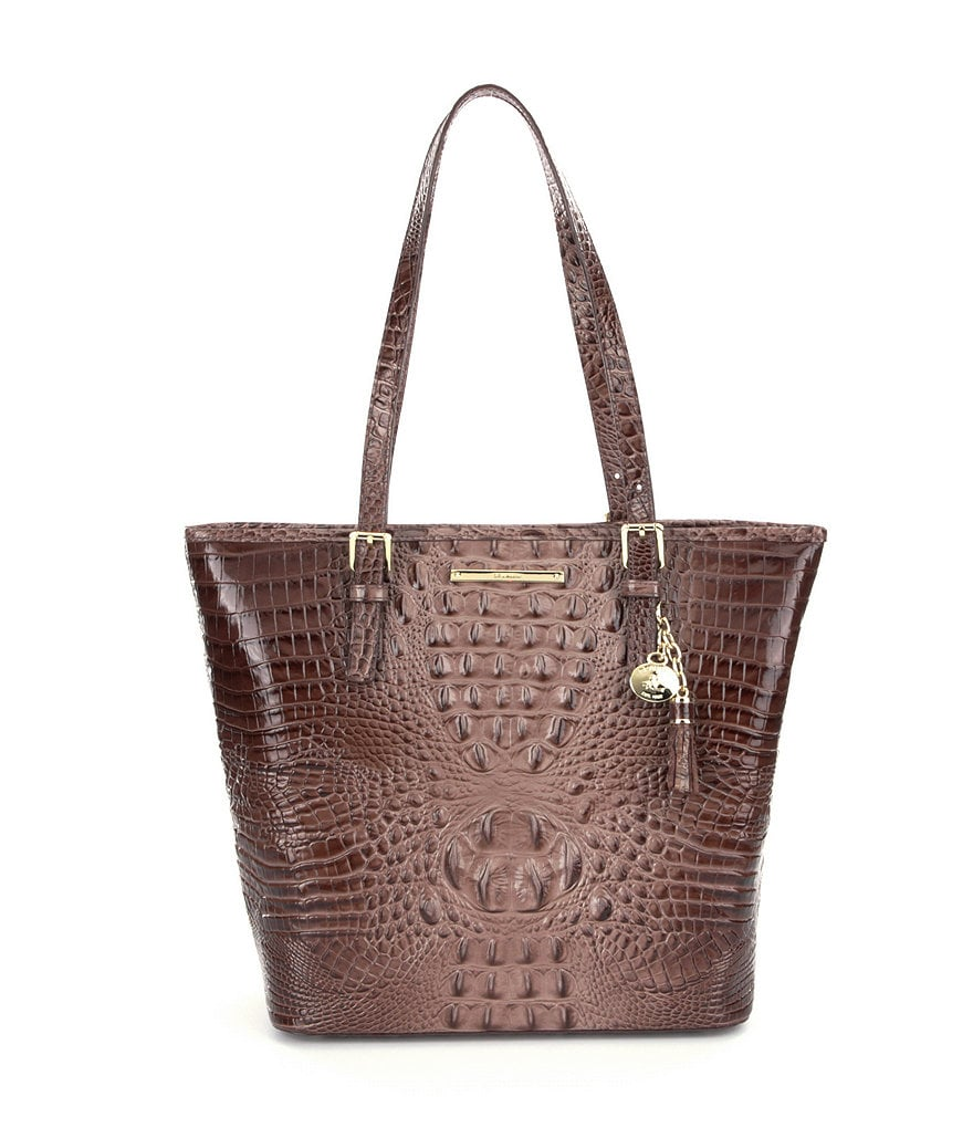 Brahmin Melbourne Collection Asher Croco-Embossed Tote