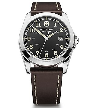 Victorinox Swiss Army Infantry Luminous Analog and Date Leather Strap Watch