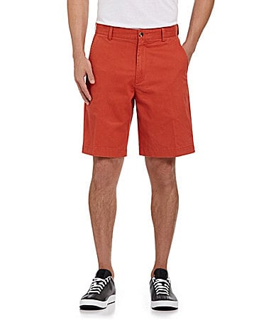 Roundtree & Yorke Casuals Flat-Front Washed Shorts