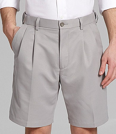 Roundtree & Yorke Microfiber Pleated Expander Shorts