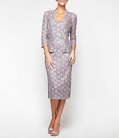 Alex Evenings Lace Jacket Dress