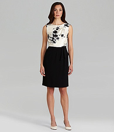Tahari by ASL Satin Peplum Dress