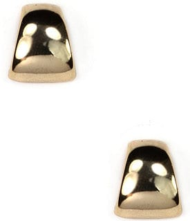 Anne Klein Gold Button Post Earrings Image