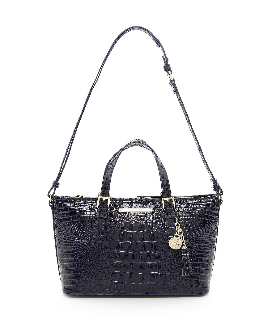 Brahmin Melbourne Collection Mini Asher Croco-Embossed Tote