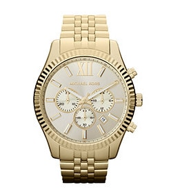 Michael Kors Lexington Men's Gold Chronograph Watch