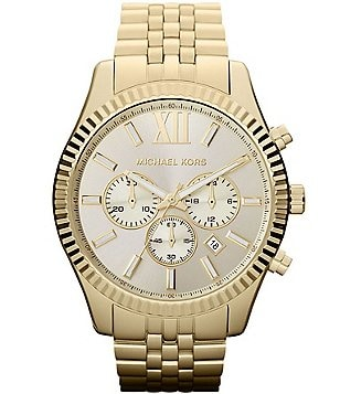 Michael Kors Lexington Stainless Steel Chronograph Bracelet Watch