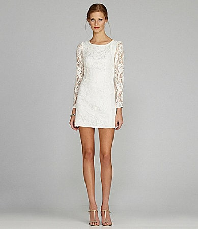 MM Couture by Miss Me Open-Back Lace Dress