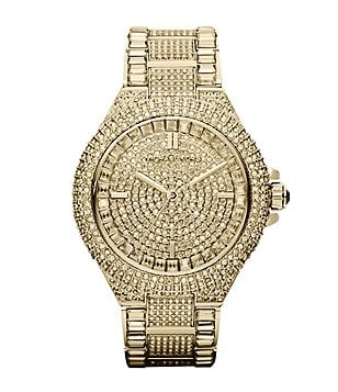 Michael Kors Camille Crystal Encrusted Chronograph Watch