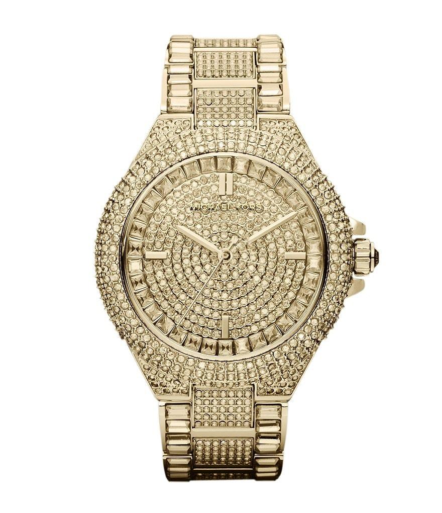 michael kors camille crystal encrusted chronograph watch dillards michael kors camille crystal encrusted chronograph watch