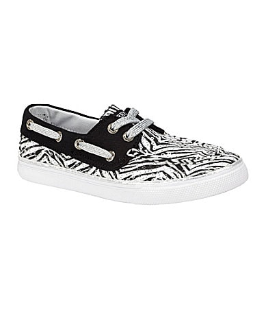 Sperry Top-Sider Girls Bahama Zebra Print Boat Shoes