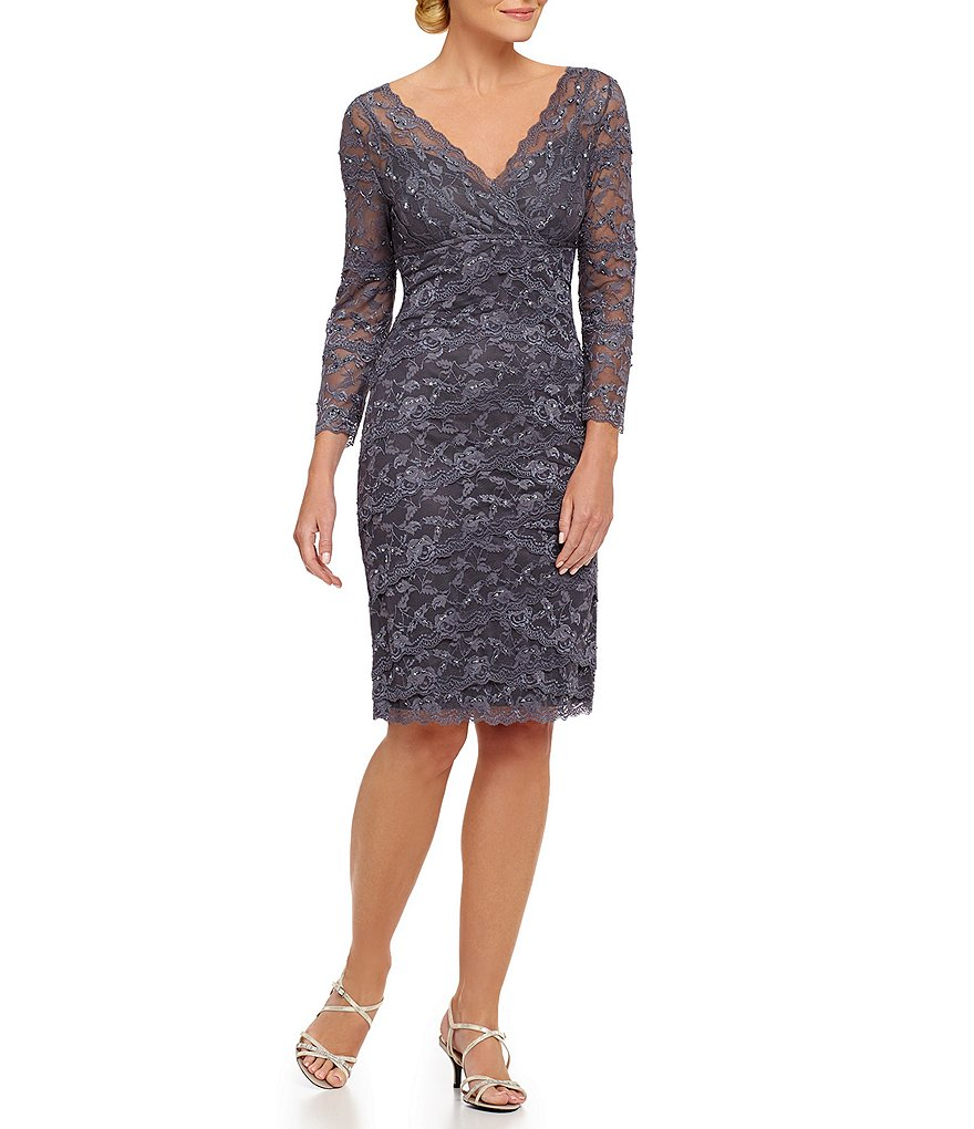 Marina V-Neck Lace Dress